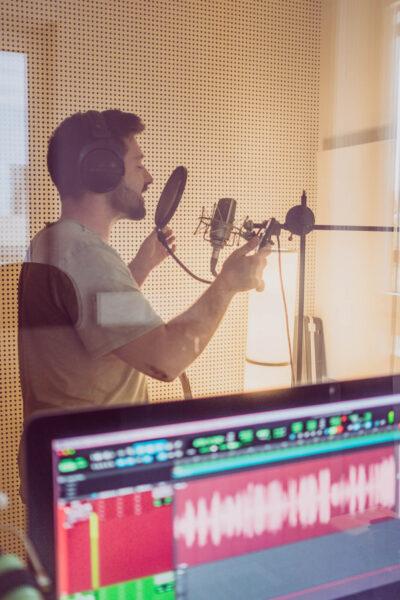 Aufnahme im Tonstudio