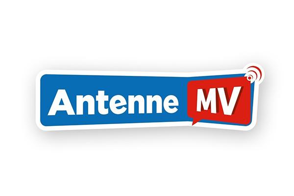 Antenne MV Logo in Blau Weiß und Rot