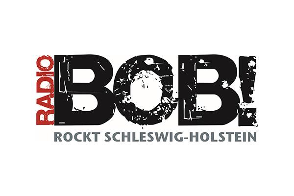 Radio Bob Logo mit leicht zersplitterten Buchstaben