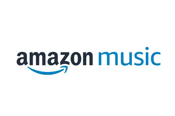 Amazon Music Logo mit blauem Pfeil