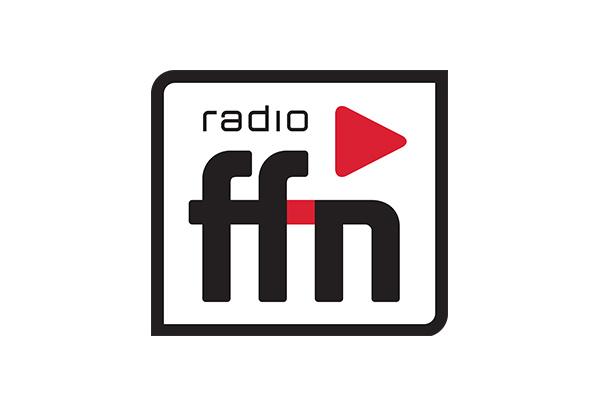 radio ffn logo mit einem roten Dreieck