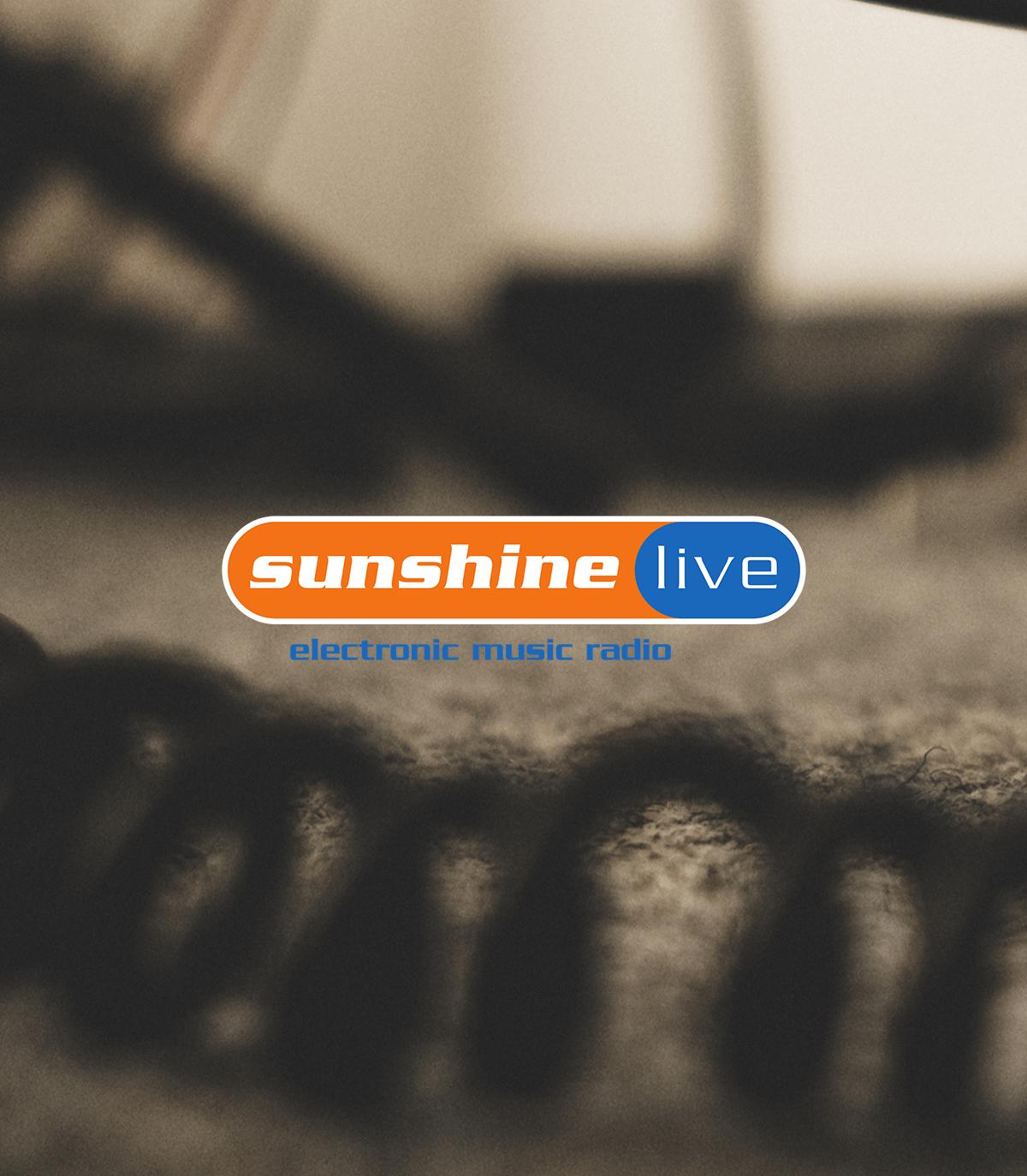 sunshine live Logo auf unscharfem Hintergrund