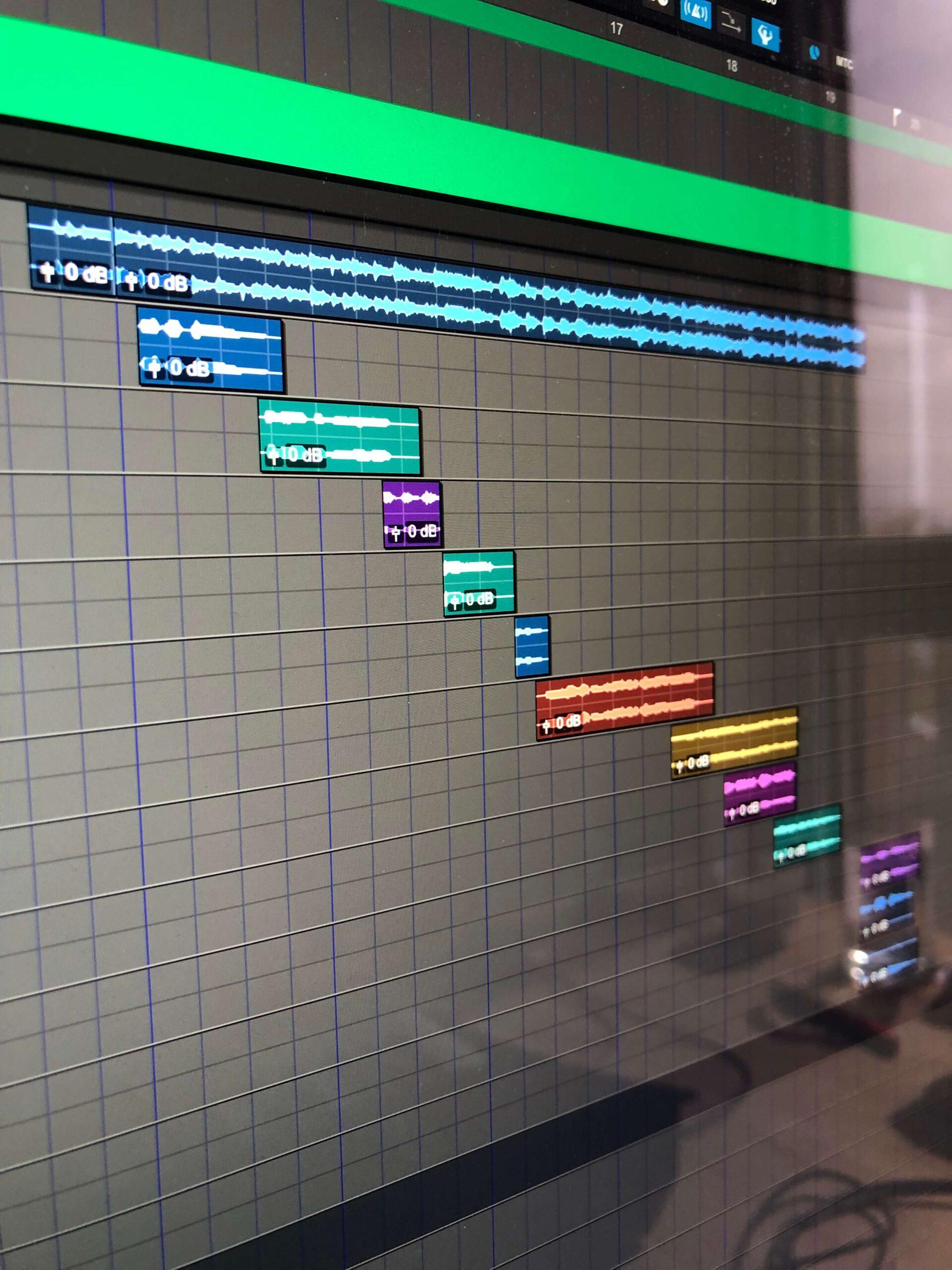 Bunte Audiospuren in Pro Tools